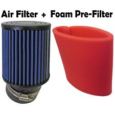 "4"" Angled Air Filter K&N & Foam Pre-Filter Go Kart Racing Parts Briggs Clone"