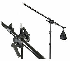 Photography Studio Light Stand, Boom Arm & Clamp Set - Photo Light Support