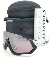 NEW Oakley Flight Jacket sunglasses Black Silver Prizm Road 9401-0937 AUTHENTIC