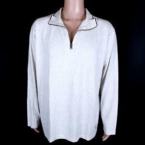 Polo Ralph Lauren Men 100% Cotton Sleepwear Ivory hint Gray Size L - NWT