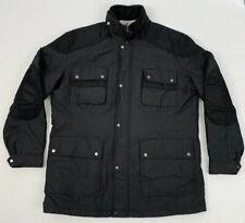 PAUL & SHARK italy moto trials 4 pocket nylon black riding jacket sz xl