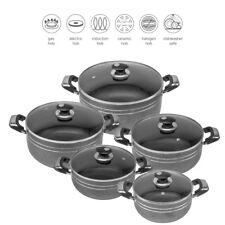 Diecast Casserole Couvercle Pot Set cuisson Pan Casserole Induction Cookware Set...