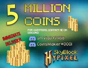 5 Million Hypixel Skyblock Coins | Fast & Safe