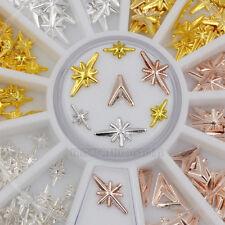 Mix 3 Colors Stars Light Arrow Head Shape Metallic Nail Art Gem Decoration Wheel
