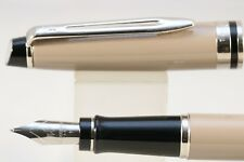 New Waterman Expert MKIII Taupe Medium Fountain Pen CT, Cased