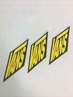 NOS Vintage Vans Logo Skateboard Sticker BMX Surf Original 1990's 80's Lot 3