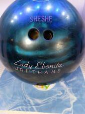 New listing Ebonite Sheshe  Bowling Ball Lady Ebonite 12lb vintage Urethane Blue