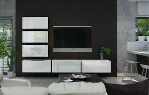 Modern Living Entertainment Wall Unit TV Stand BOXING 4 Gloss - 2 Colours