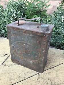 VINTAGE ESSO 2 GALLON PETROL JERRY CAN