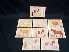 12-21-1973 8 Taiwan China Horses FDC Cards Sc#1856-63