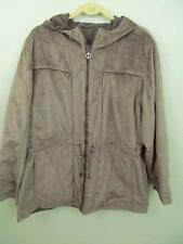 Free Country Zip Jacket 2X Fur Lined Hood Zip Reversible 7 Pockets 53 Bust Draw