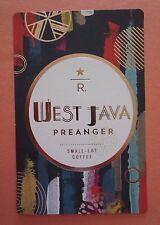 STARBUCKS 2015 - Series Reserve Tasting Card WEST JAVA PREANGER - NEW