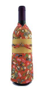 Japanese Kimono Bottle Cover for Wine or Sake - Brand New in Package