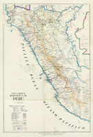 1916 Commercial Map of the Republic of Peru Historic Wall Art Poster Print Decor