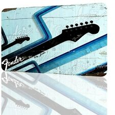 WALL SIGN FENDER Music Classic Poster Wall Art Decor Home Pub Bar Garage Rusted