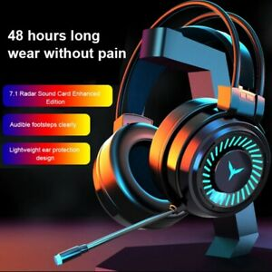 3.5mm Gaming Headset Wired Headphones 7 LED Illumination Stereo