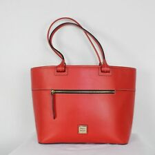 DOONEY & BOURKE Red Leather Large Tote Bag