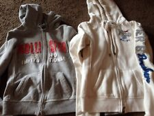 Lot Of 2 Hollister Hoodies Size Xs Grey White