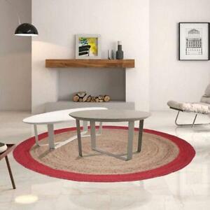 Rug 100%Natural Jute Braided Style Area Carpet Rug Reversible Decor Warm Rag Rug