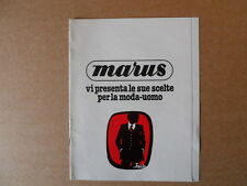 Depliant Pubblicitario MARUS moda uomo FACIS anni 80 12 pagine [C88]