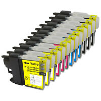 12 NON-OEM INK CARTRIDGE BROTHER LC-61 DCP-165C DCP-585CW DCP-375CW DCP-385CW