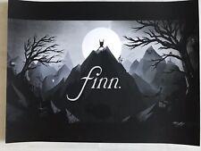 Finn Adventure Time - Limited Edition Art Print - Olly Moss - NT Mondo