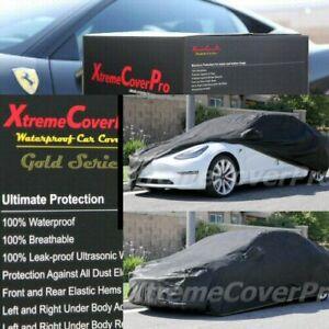 2018 2019 2020 2021 TESLA MODEL 3 WATERPROOF CAR COVER W/MIRROR POCKET -BLACK