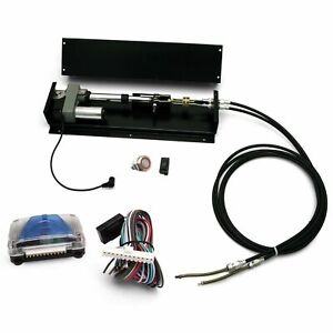 1 Touch Power Remote Mount Emergency Brake Kit w/ 8' Rear Brake Cable Ford Chevy