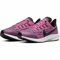 NIKE KIDS AIR ZOOM PEGASUS 36 RUNNING - UK 3/US 3.5/EUR 35.5 - PINK/BLACK/WHITE