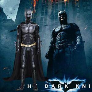 The Dark Knight Rises Batman Bruce Wayne Men Cosplay Costume Outfit Halloween
