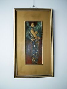 Painting based on portrait of Emilie Floge by Gustaf Klimt