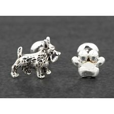 Equilibrium Silver Plated Dog & Paw Print Odd Furry Companions Earrings 299366