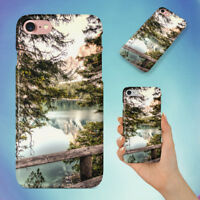 DAYLIGHT FOREST LAKE HARD BACK CASE FOR APPLE IPHONE PHONE