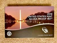 2019 US Mint Silver Proof Set w/ Box & COA - 10 Coins
