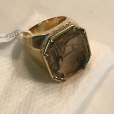 "14K Citrine Intaglio Men's Ring Size 9.5 Large 7/8""x 13/16""   Gorgeous !!"