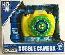 Bubble Camera Yellow & Green Toy Camera With Bubbles Bottle Lights Up - No Strap