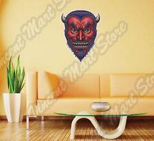 "Red Devil Head Monster Horns Fangs Wall Sticker Room Interior Decor 20""X25"""