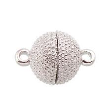 4 METALL MAGNET VERSCHLUSS SCHMUCK VERSCHLÜSSE VERBINDER 15mm SILBER M430D Juwelen maken: toebehoren