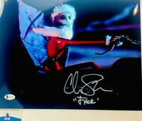 Chris Sarandon signed Jack Skellington 11X14 photo BAS COA WAO4903