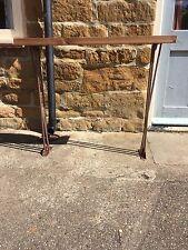Bespoke H85x W100 x 20cm steampunk rustic Bronze industrial steel console table