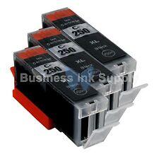3 PGI-250XL BLACK Ink Tank for Canon Printer PIXMA MG5520 MG7120 iP7220 PGI250XL