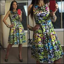 $120 DRESSY BESSY Miss Amy 1950s DRESS 12 fitted STRETCH BUY3+ITEM= FREE POST