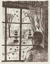 Am FENSTER - GEWITTERSTIMMUNG - Jacques BLÉNY - 3 Originaldruckgrafiken 1953