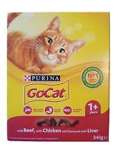 Purina 1+ GoCat Dry Cat Food - Beef/Chicken/Liver - 340g