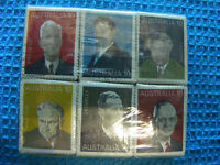 Lot  of 100  SEALED sets Australia 1975 Prime Ministers stamps, Fine Used. .