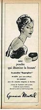 PUBLICITE ADVERTISING 024   1961   GERMAINE MONTEIL    poudre SUPERGLOW