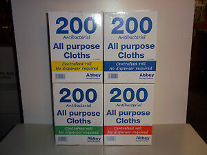 Antibacterial All Purpose Cloth J Cloths Cleaning Bar Restaurant 4 COLOURS