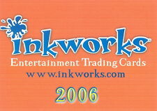 INKWORKS 2006 SAN DIEGO COMIC CON PROMO PACK HEADER CARD ONLY INK-2006
