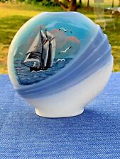 Vintage GavenDail Nova Scotia Nautical Decor Bluenose Schooner Vase 6/6 �� sj17j
