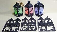 3 Christmas Lantern Die Cuts